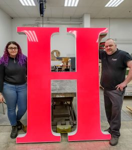 Poyant Signs – Life Size Letter